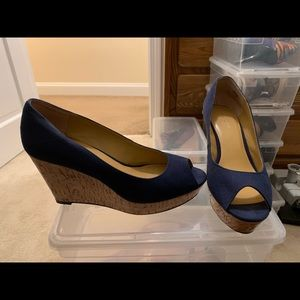 Nine West Platform Peep Toe Wedges